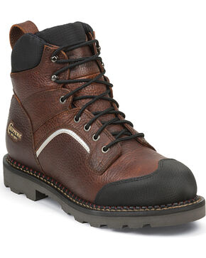 Chippewa Men's Reflective Waterproof Composite Toe Work Boots, Peanut Brittle, hi-res