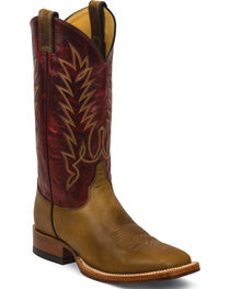 Justin Men's Damiana Western Boots, Tan, hi-res