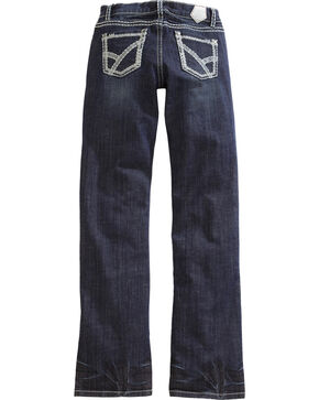Tin Haul Women's Mimi X-Boyfriend Straight Leg Thick Stitch Jeans, Denim, hi-res