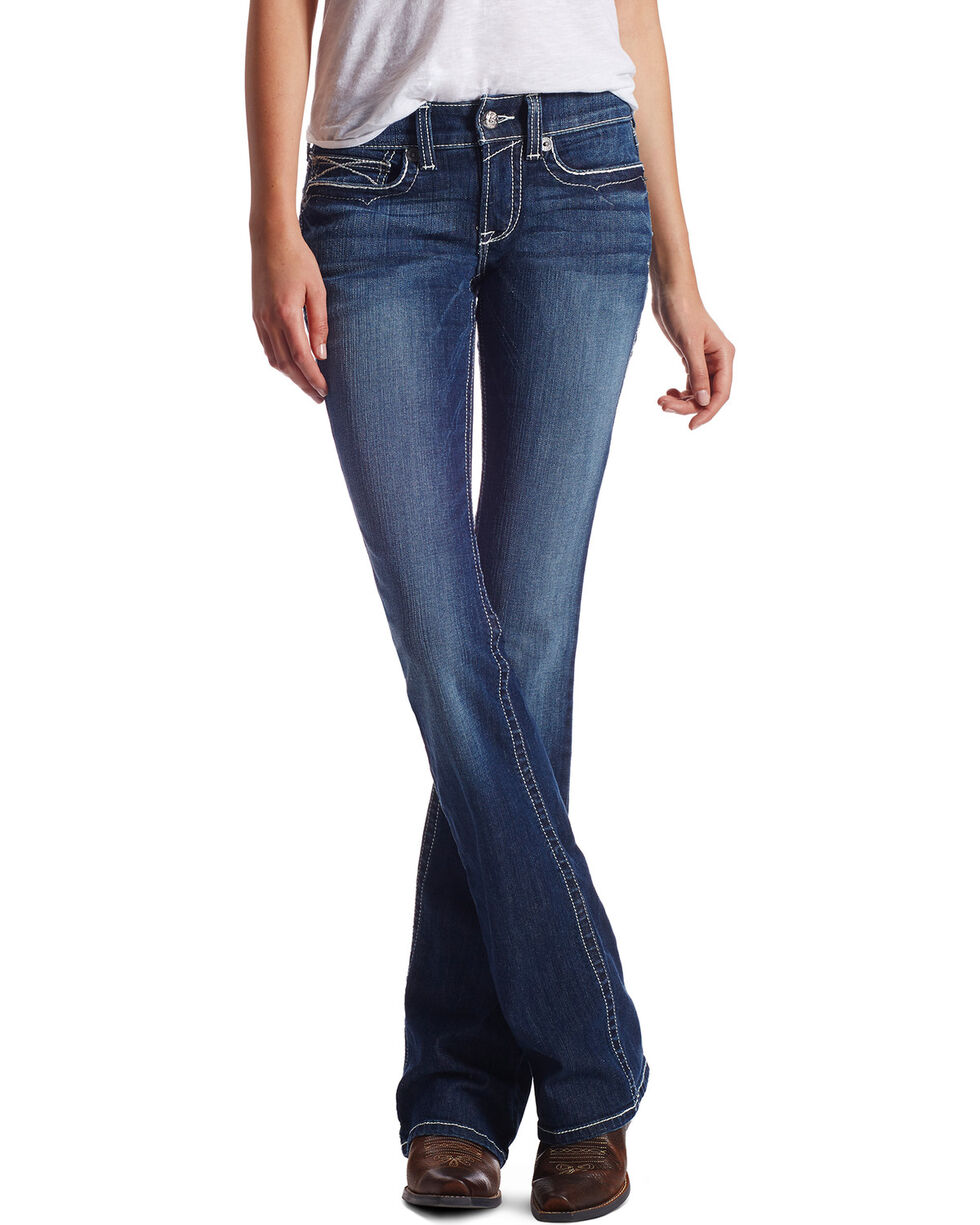 Ariat Women's R.E.A.L. Morgan Lakeshore Boot Cut Jeans  , Blue, hi-res
