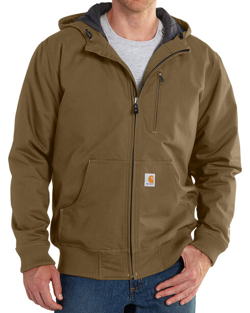 Carhartt Men's Quick Duck Jefferson Active Jacket - Big & Tall, Brown, hi-res