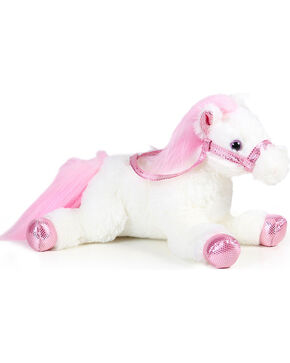Lil' Boot Barn Flopsie Metallic Stuffed Horse, Pink, hi-res