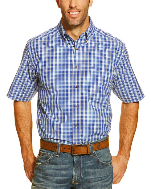 Ariat Men's Gabriello Short Sleeve Western Shirt, Royal, hi-res