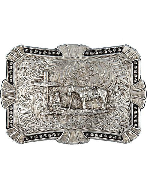Montana Silversmiths Trailblazer Buckle, Silver, hi-res