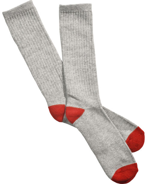 Boot Barn Youth Crew Sock 3 Pack, Heather Grey, hi-res