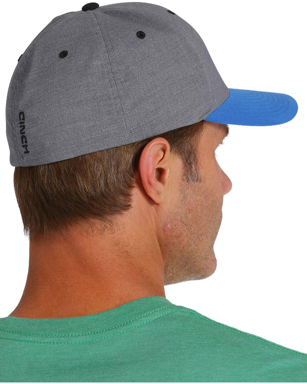 Cinch Men's Blue Embroidered Logo Soft FlexFit Cap , Blue, hi-res