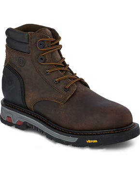 Justin Men's Commander-X5 Insulated WP Work Boots, Brown, hi-res