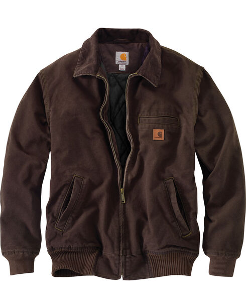 Carhartt Men's Dark Brown Bankston Jacket - Big & Tall, Dark Brown, hi-res