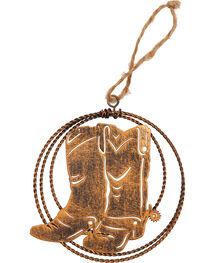 BB Ranch Laser Cut Metal Boots Ornament , , hi-res