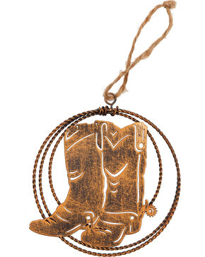 BB Ranch Laser Cut Metal Boots Ornament , No Color, hi-res