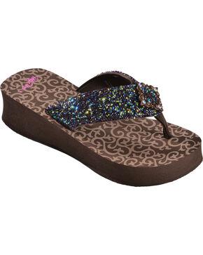 Blazin Roxx Hannah Flip Flops, Brown, hi-res