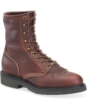 Double H Men's Lacer Work Boots, Brown, hi-res
