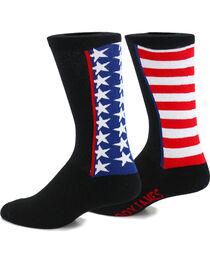 Cody James® Men's Mixed Flag Crew Socks, , hi-res