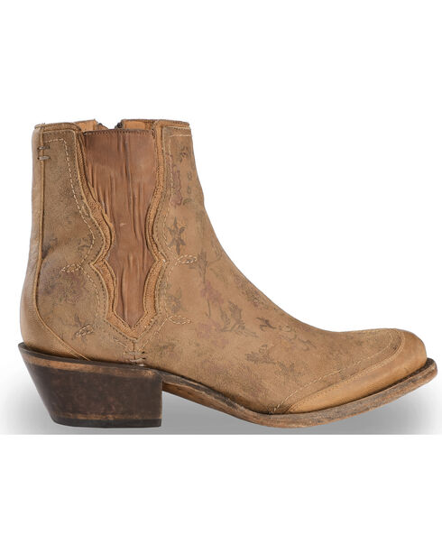 Lucchese Women's Handmade Natural Gia Chelsea Short Boots - Round Toe , Natural, hi-res