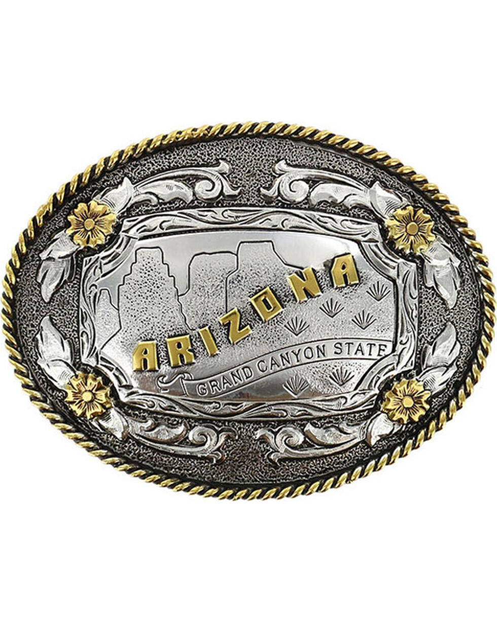 Cody James® Oval Dual-Tone Arizona Buckle, Multi, hi-res