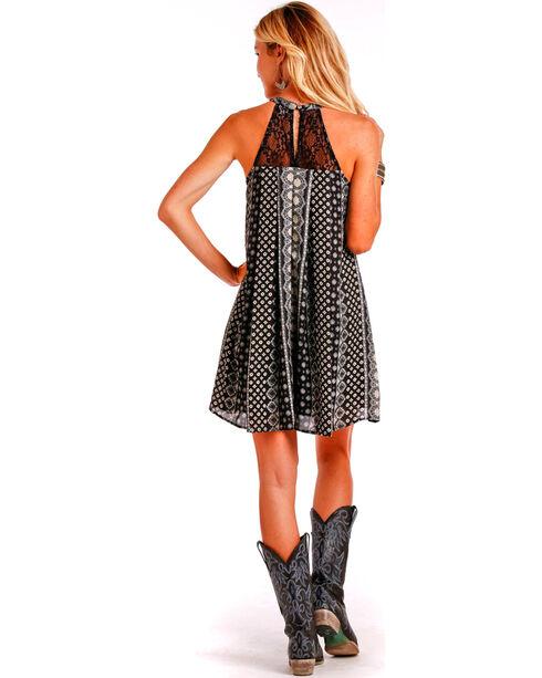 Panhandle Women's Printed High-Neck Dress, Black, hi-res