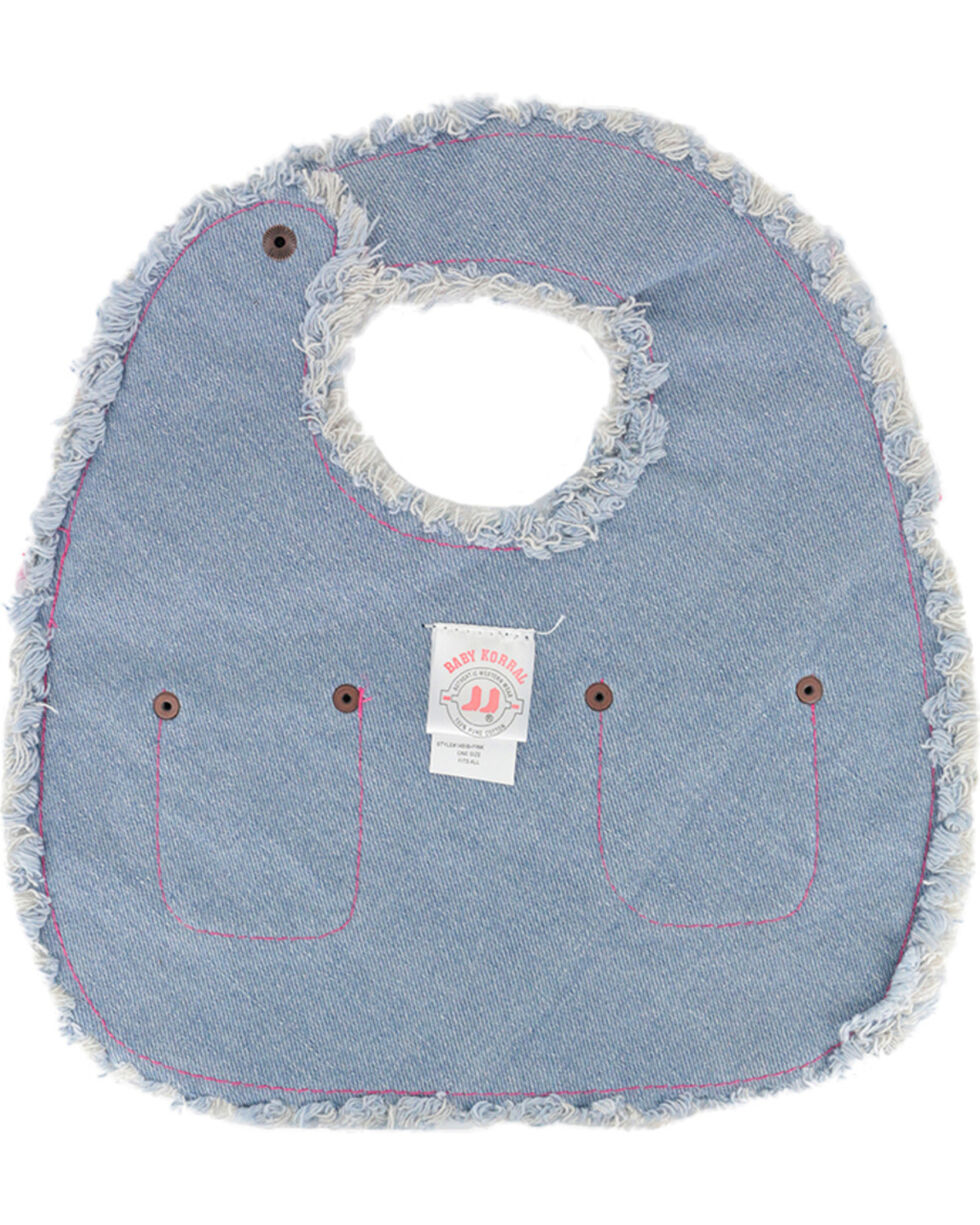 Baby Korral Infant's Paisley and Denim Bib, , hi-res