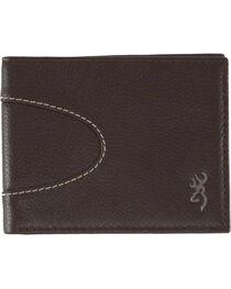 Browning Men's Wanderer Bi-Fold Leather Wallet, , hi-res