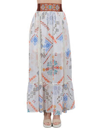HYFVE Women's Aztec Printed Maxi Skirt , , hi-res