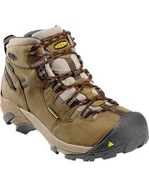 Keen Footwear Men's Detroit Lace-Up Waterproof Work Boots, , hi-res