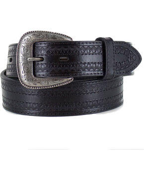Cody James® Men's Engraved Belt, Black, hi-res