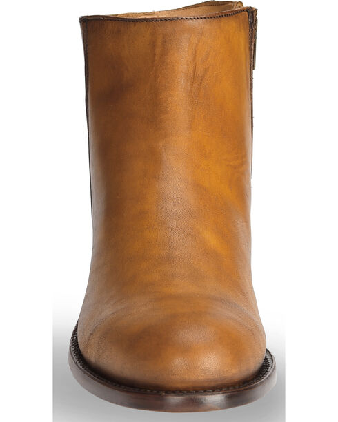 El Dorado Men's Tan Leather Zipper Urban Roper Boots - Round Toe, Tan, hi-res
