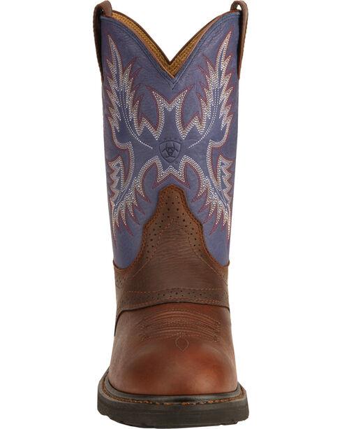 Ariat Sierra Saddle Vamp Work Boots - Soft Toe, Redwood, hi-res