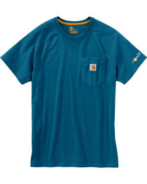 Carhartt Men's Blue Force Cotton Delmont Short Sleeve T-Shirt, , hi-res