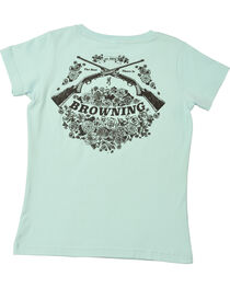 Browning Women's Light Blue Rifle Bouquet T-Shirt  , , hi-res