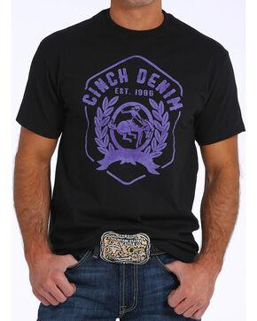 Cinch Men's Screen Print Short Sleeve Jersey Tee, Black, hi-res