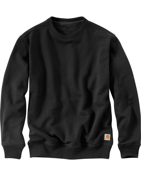 Carhartt Rain Defender Paxton Heavyweight Sweatshirt - Big & Tall, Black, hi-res