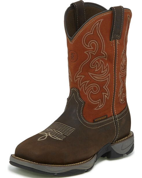 Tony Lama Men's Brown Junction Waterproof Work Boots - Steel Toe , Brown, hi-res