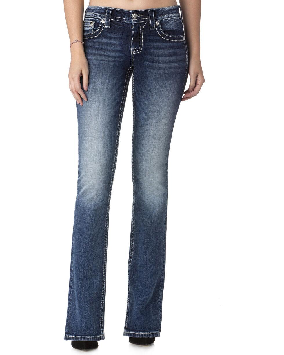 Miss Me Women's Reign Supreme Mid-Rise Boot Cut  Jeans , , hi-res