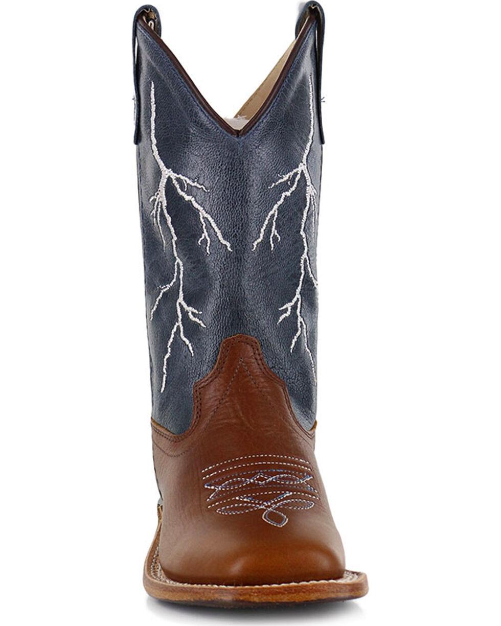 Cody James® Boys' Lightening Western Boots, Brown, hi-res