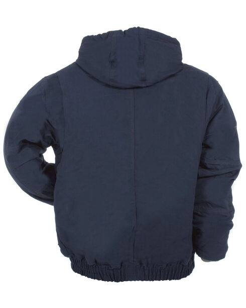 Berne Flame Resistant Hooded Jacket - 3XL and 4XL, Navy, hi-res