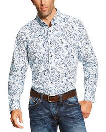 Ariat Men's Floral Pattern Long Sleeve Western Shirt, , hi-res