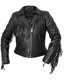 Interstate Leather Women's Madonna Fringe Riding Jacket, , hi-res