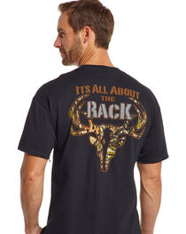 Cowboy Up Men's It's All About the Rack Tee, , hi-res