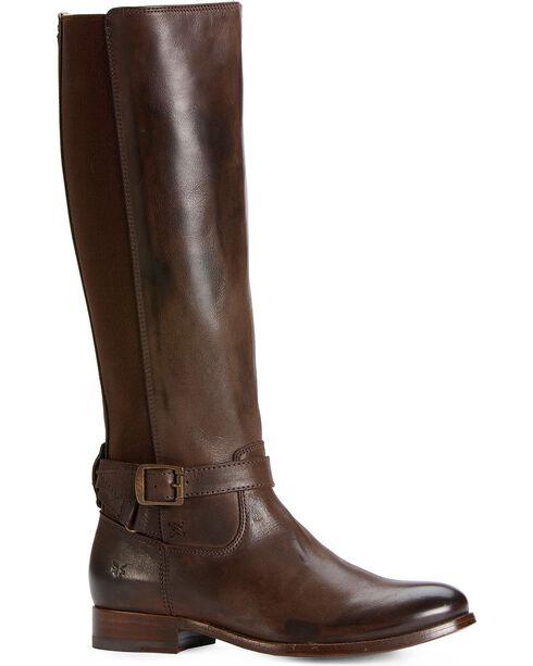 Frye Women's Melissa Gore Inside Zip Fashion Boots, Dark Brown, hi-res
