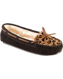 Women's Minnetonka Leopard Cally Moccasins, , hi-res