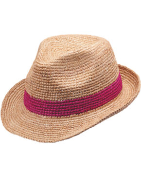 Peter Grimm Torgau Ladies Straw Fedora, Natural, hi-res