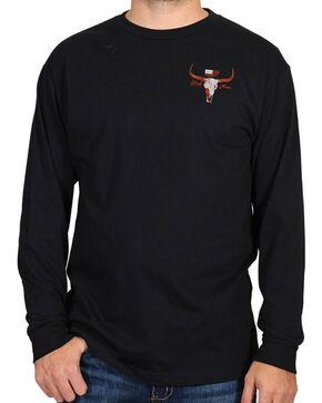 Cody James® Men's Saloon Graphic Long Sleeve Tee, Black, hi-res