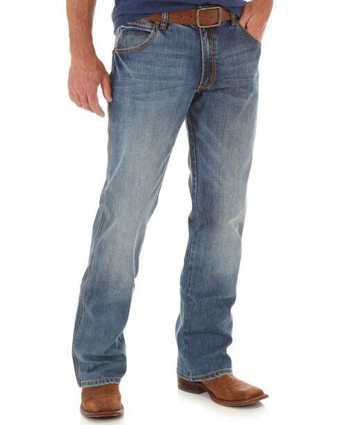 Wrangler Retro Men's Indigo Athens Slim Boot Cut Jeans, Indigo, hi-res