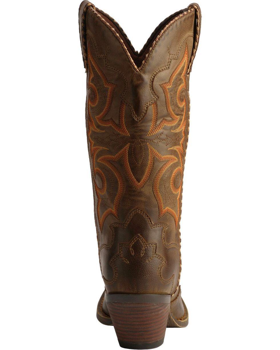Durango Women's Rock-n-Scroll Western Boots, Saddle Tan, hi-res