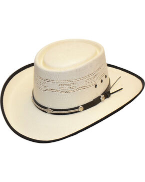 Western Express Men's Bangora Gamblers Hat, White, hi-res