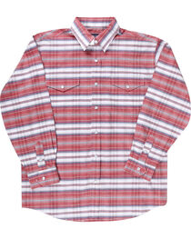 Rough Stock by Panhandle Boys' Striped Long Sleeve Shirt, , hi-res