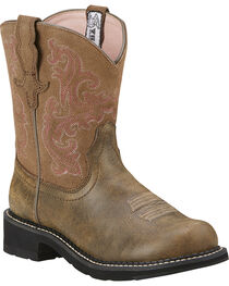 Ariat Fatbaby Brown Bomber Leather Boots - Crepe Sole, , hi-res