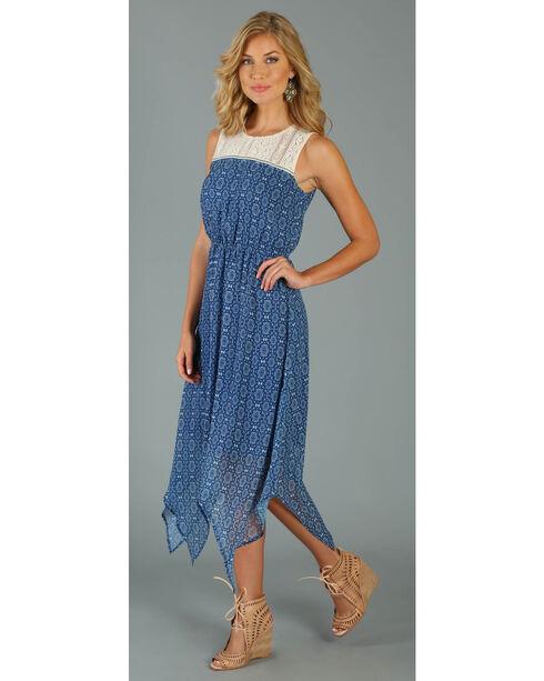 Wrangler Women's Navy Sleeveless Crochet Front Dress, Navy, hi-res