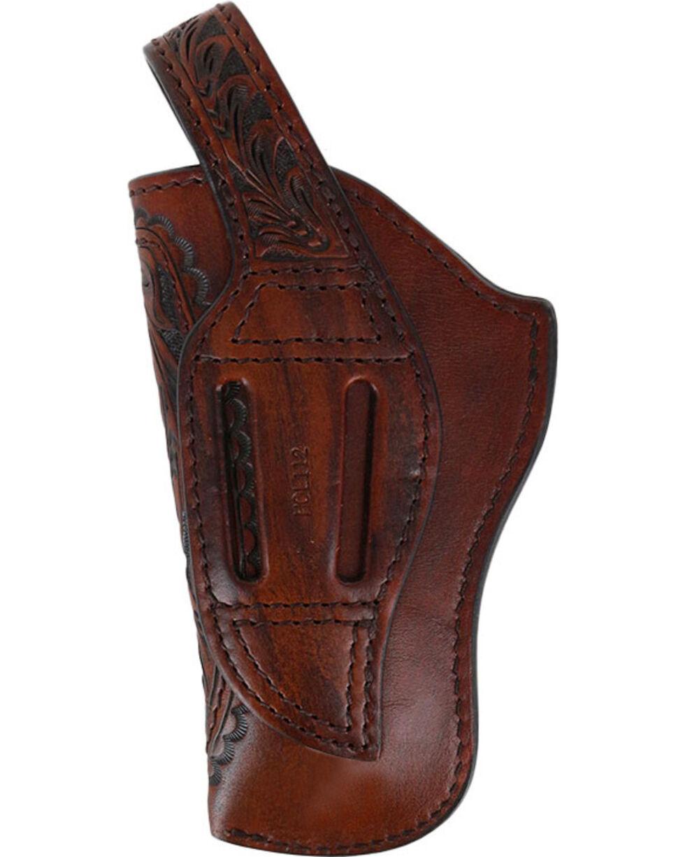 3D Belt Co Basket Weave Revolver Holster, Brown, hi-res