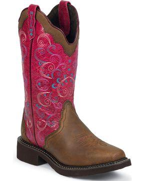 Justin Gypsy Bay Apache Cowgirl Boots - Square Toe, Bay Apache, hi-res